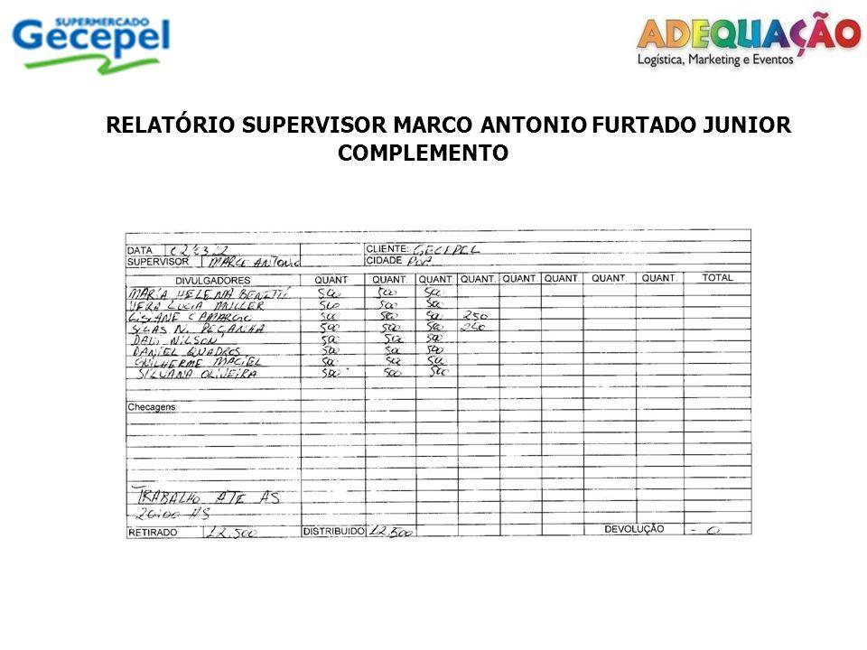 RELATÓRIO SUPERVISOR MARCO ANTONIO FURTADO JUNIOR COMPLEMENTO