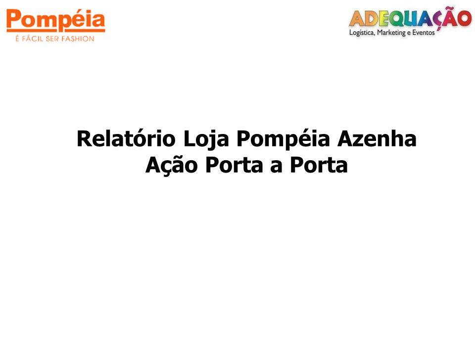 Relatório Loja Pompéia Azenha Ação Porta a Porta