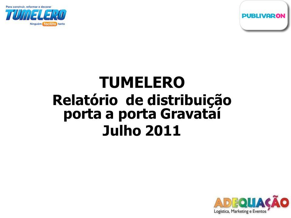 TUMELERO Relatório de distribuição porta a porta Gravataí Julho 2011