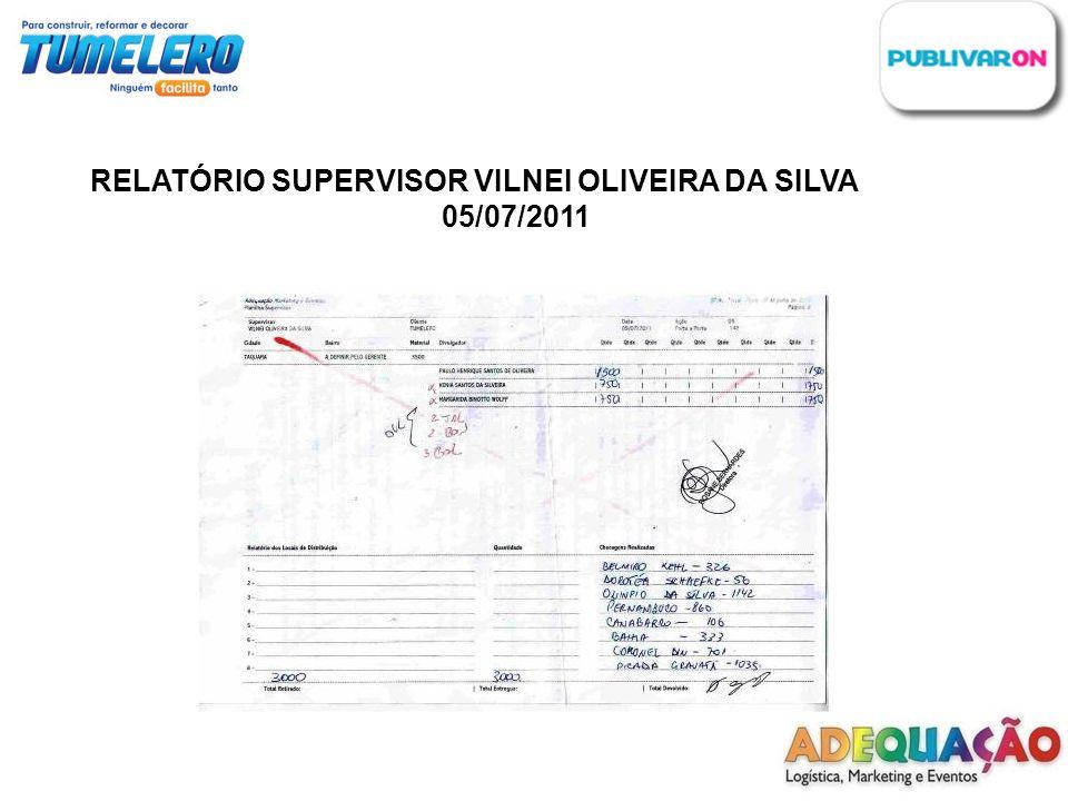 RELATÓRIO SUPERVISOR VILNEI OLIVEIRA DA SILVA 05/07/2011