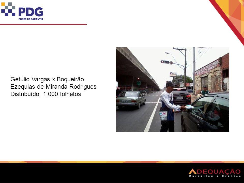Getulio Vargas x Inconfidência Anderson Silva Maia Distribuído: 1.200 folhetos
