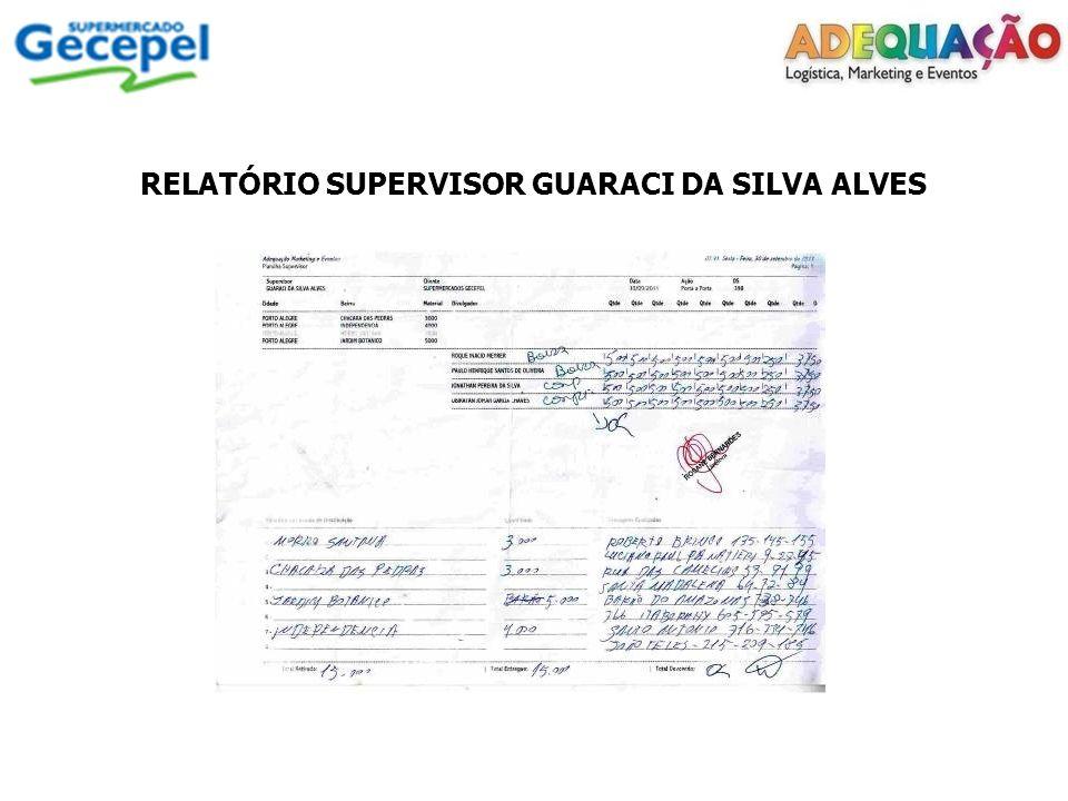 RELATÓRIO SUPERVISOR GUARACI DA SILVA ALVES