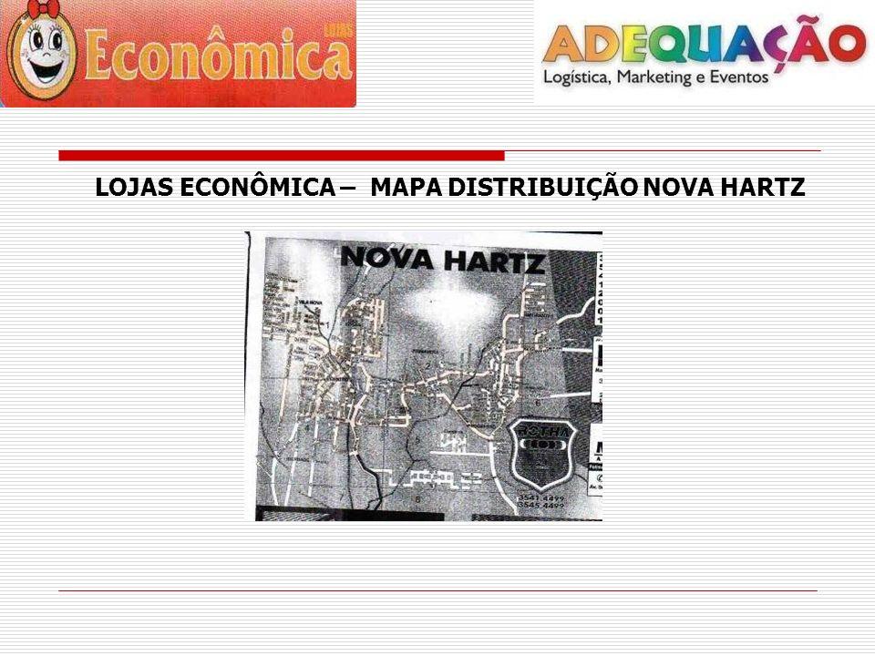 LOJAS ECONÔMICA – MAPA DISTRIBUIÇÃO NOVA HARTZ