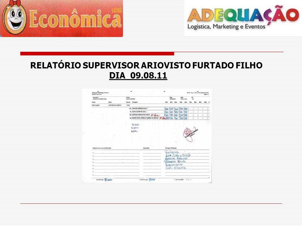 RELATÓRIO SUPERVISOR ARIOVISTO FURTADO FILHO DIA 09.08.11