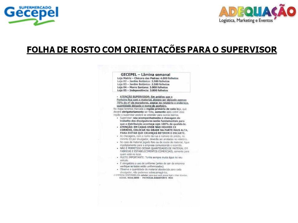 FOLHA DE ROSTO COM ORIENTAÇÕES PARA O SUPERVISOR