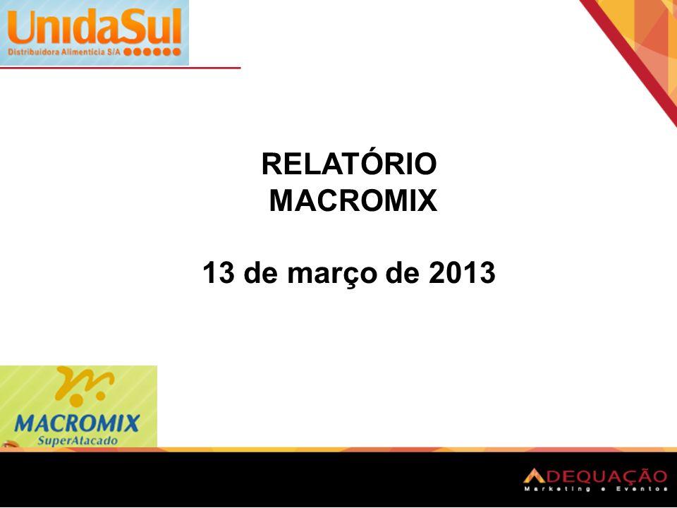 Cliente: UnidaSul - MacroMix atacado inicio da Distribuição: 13 março de 2013.