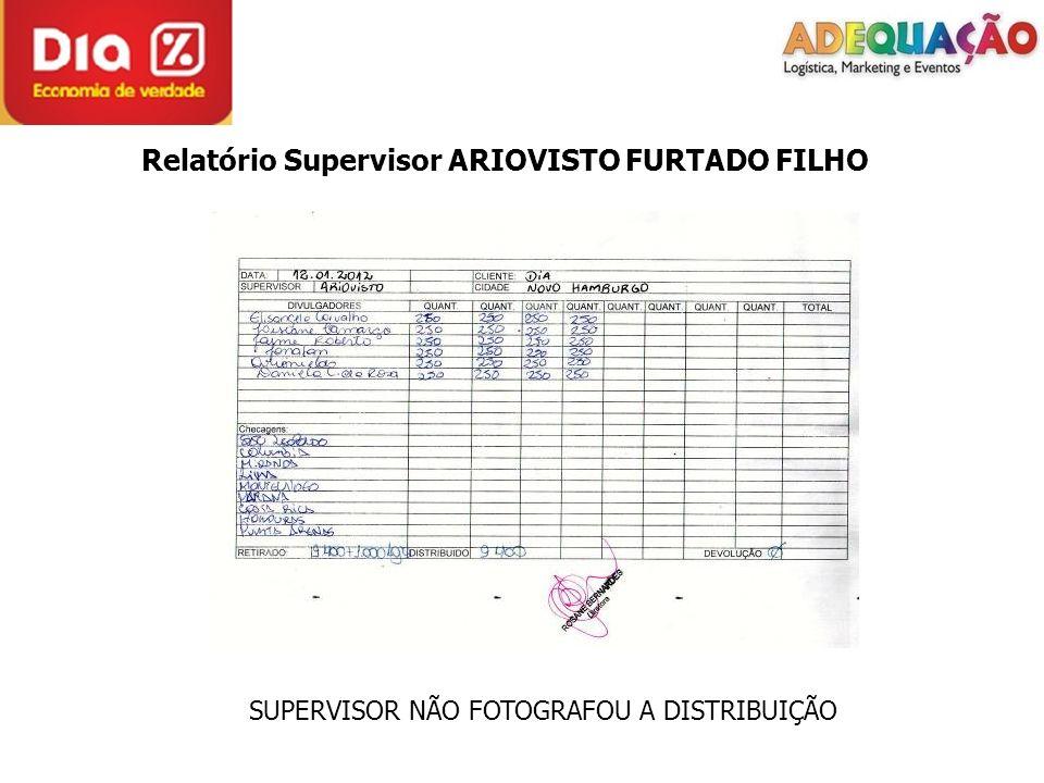 Relatório Supervisor ARIOVISTO FURTADO FILHO SUPERVISOR NÃO FOTOGRAFOU A DISTRIBUIÇÃO