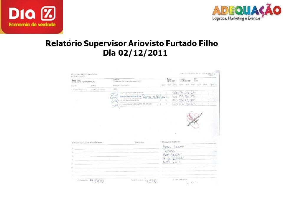 Relatório Supervisor Ariovisto Furtado Filho Dia 02/12/2011