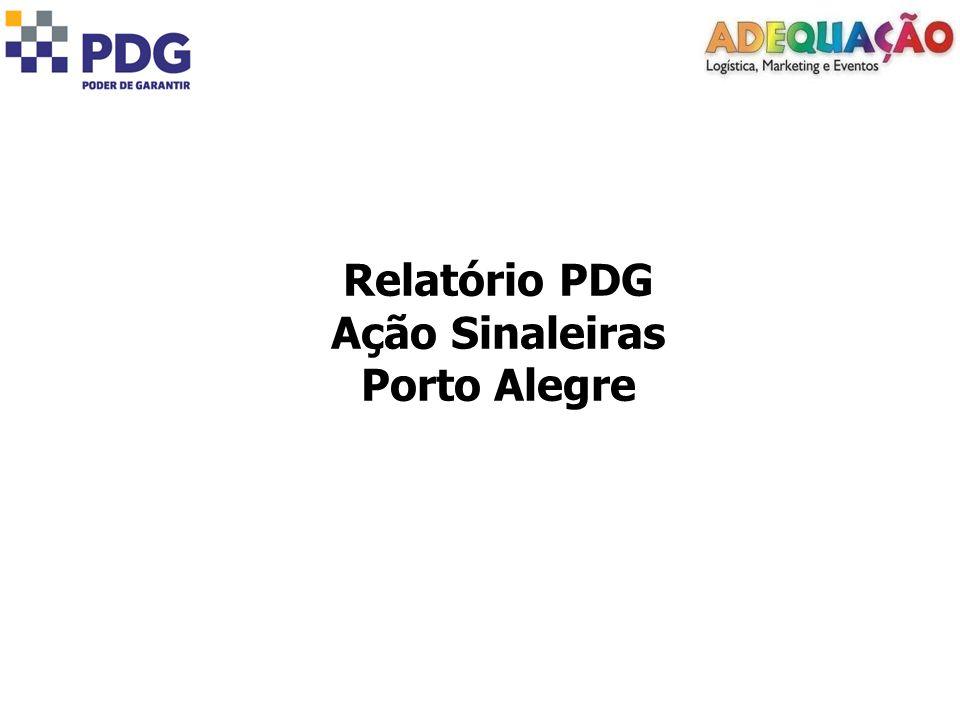 Relatório PDG Ação Sinaleiras Porto Alegre