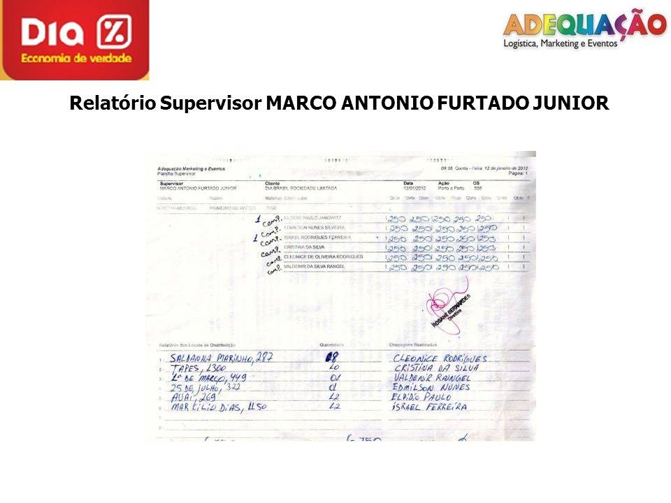 Relatório Supervisor VITOR EDUARDO GALVÃO BOEIRA SUPERVISOR NÃO FOTOGRAFOU A DISTRIBUIÇÃO.