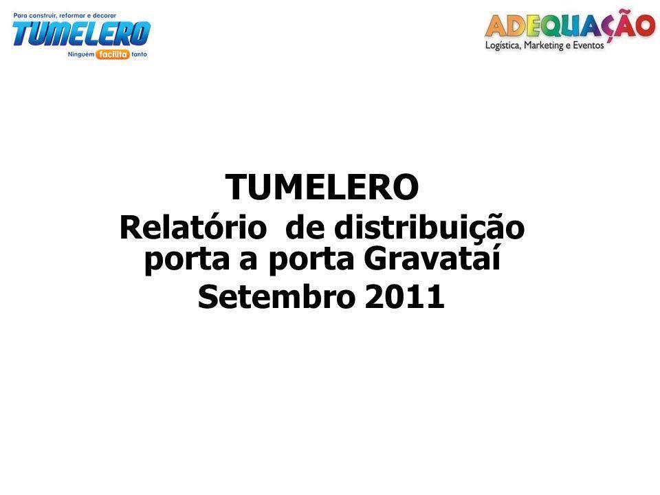TUMELERO Relatório de distribuição porta a porta Gravataí Setembro 2011
