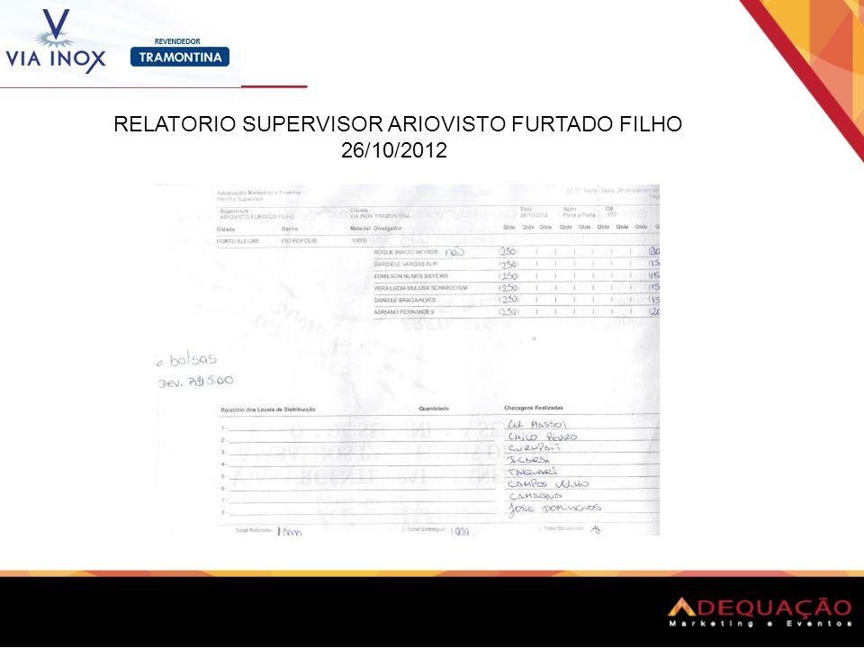 RELATORIO SUPERVISOR ARIOVISTO FURTADO FILHO 26/10/2012