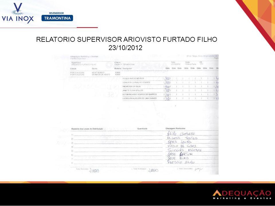 RELATORIO SUPERVISOR ARIOVISTO FURTADO FILHO 23/10/2012