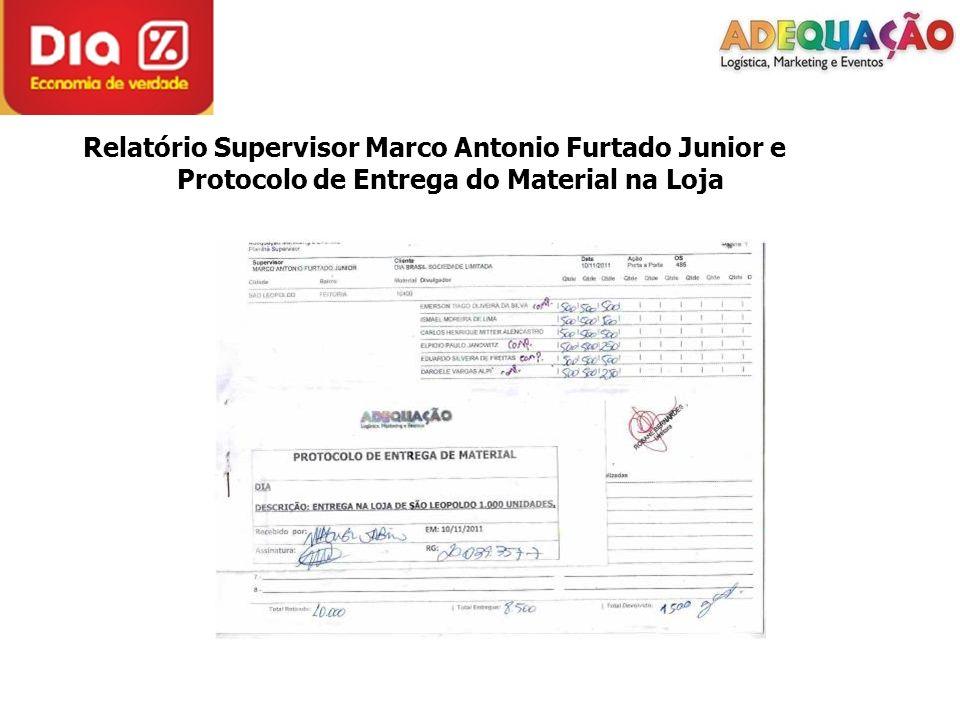 Relatório Supervisor Marco Antonio Furtado Junior e Protocolo de Entrega do Material na Loja