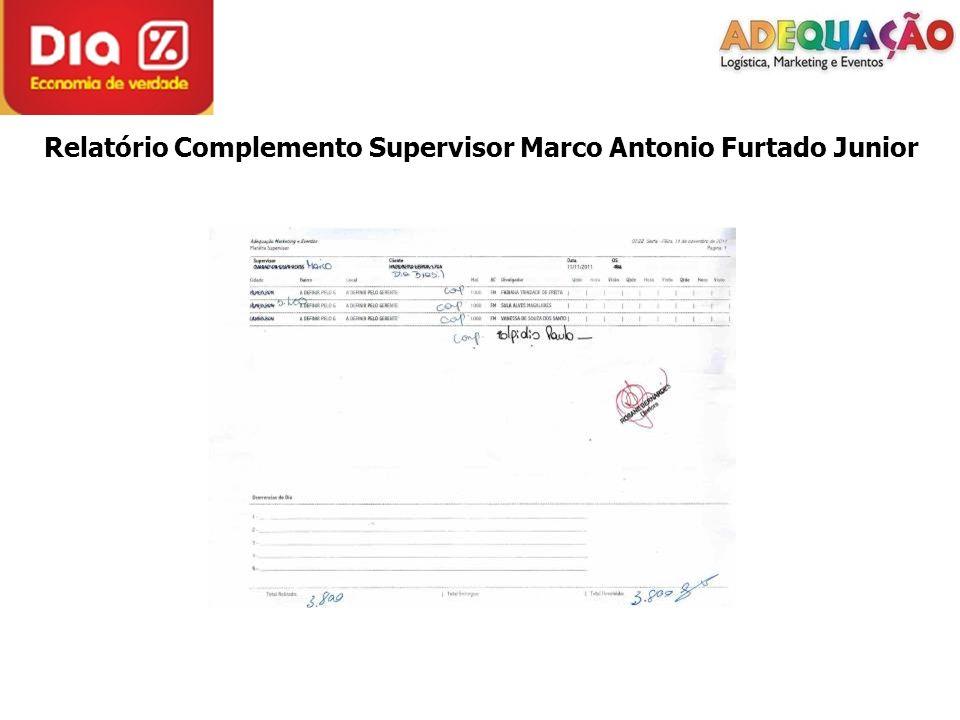 Relatório Complemento Supervisor Marco Antonio Furtado Junior