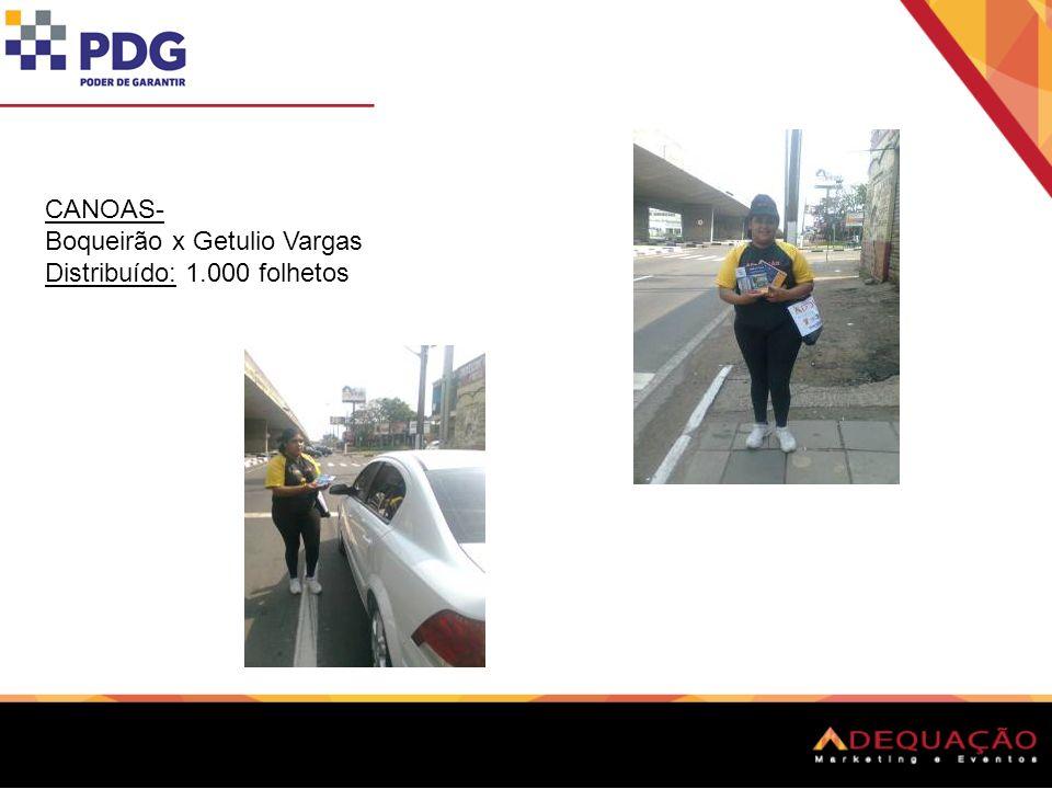 CANOAS- Boqueirão x Getulio Vargas Distribuído: 1.000 folhetos