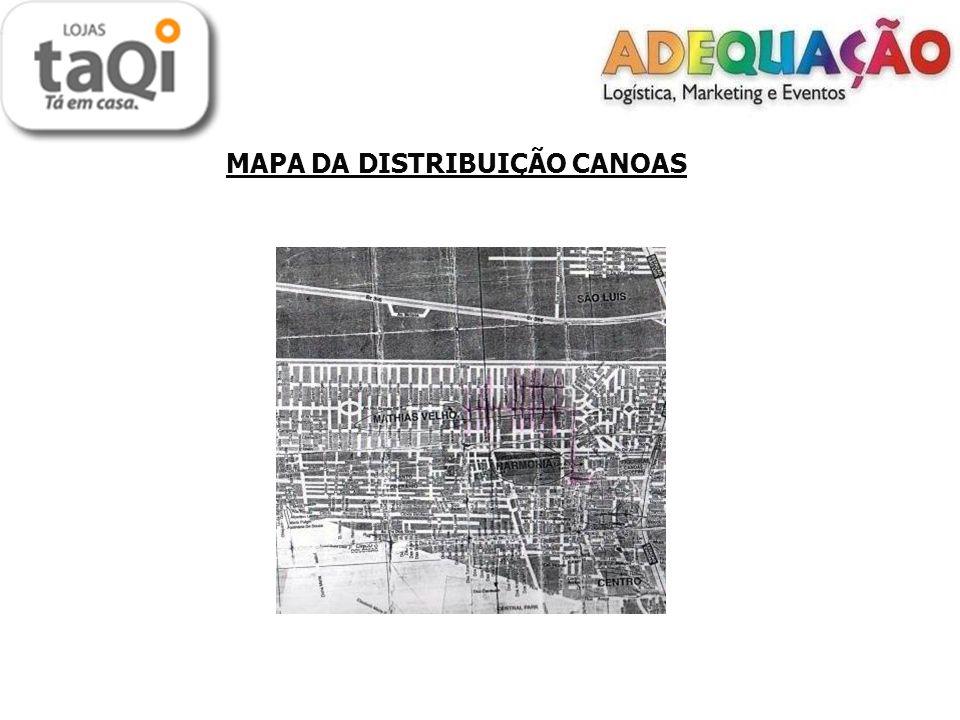 MAPA DA DISTRIBUIÇÃO CANOAS