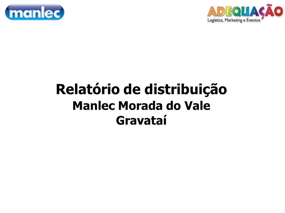 Relatório de distribuição Manlec Morada do Vale Gravataí