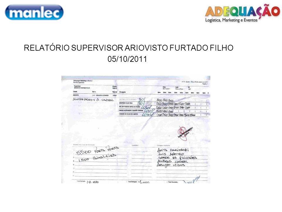 RELATÓRIO SUPERVISOR ARIOVISTO FURTADO FILHO 06/10/2011