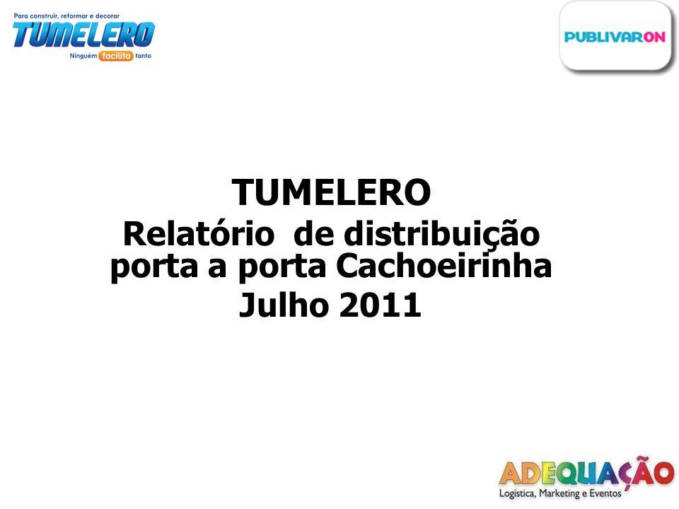 Cliente: Publivaron / TUMELERO Ação: Distribuição de folhetos porta a porta Realização: Adequação – Logística, Marketing e Eventos.