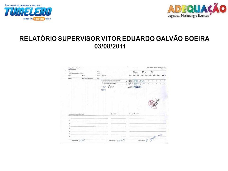 RELATÓRIO SUPERVISOR VITOR EDUARDO GALVÃO BOEIRA 03/08/2011