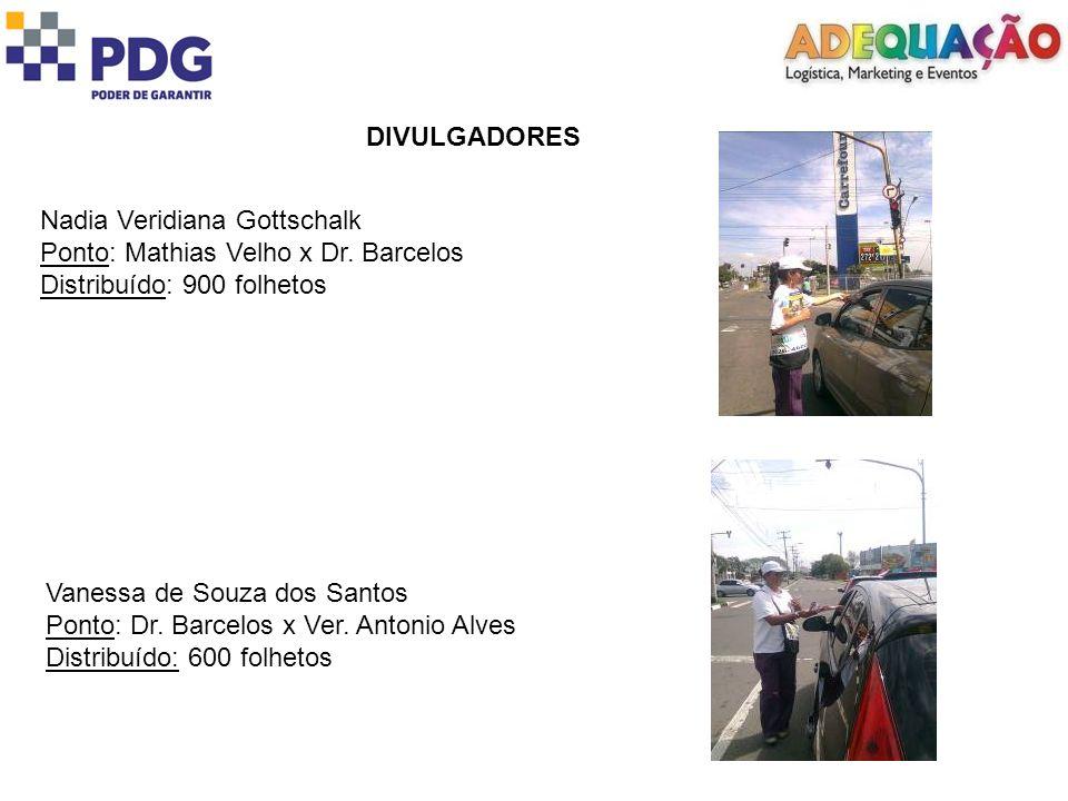 DIVULGADORES Nadia Veridiana Gottschalk Ponto: Mathias Velho x Dr.