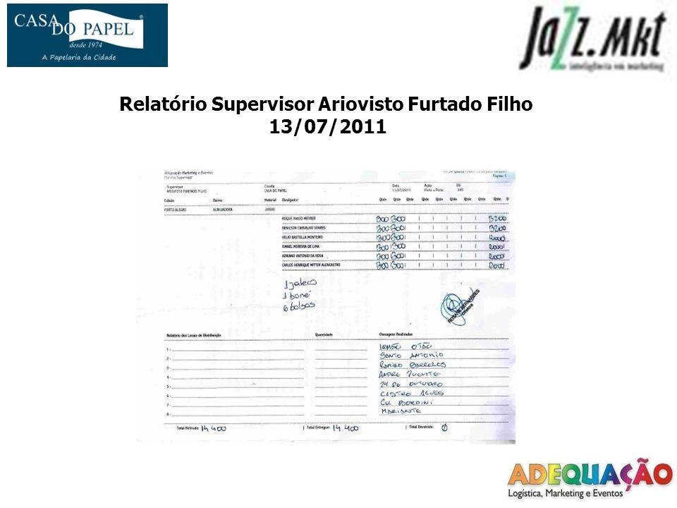 Relatório Supervisor Ariovisto Furtado Filho 13/07/2011