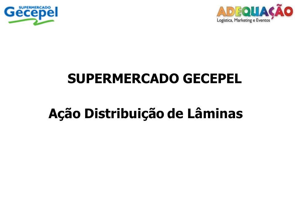 Cliente: Supermercado Gecepel Ação: Distribuição de Lâminas Data: 04 de maio de 2012 Local: Porto Alegre-RS Horário de trabalho: 9:00 as 18:00 Recebemos: 15.000 folhetos Distribuímos no período: 15.000 folhetos Validade do folheto distribuído: 04 a 06/05/2012 Validade 2º feira Hortifruti: 07/05/2012