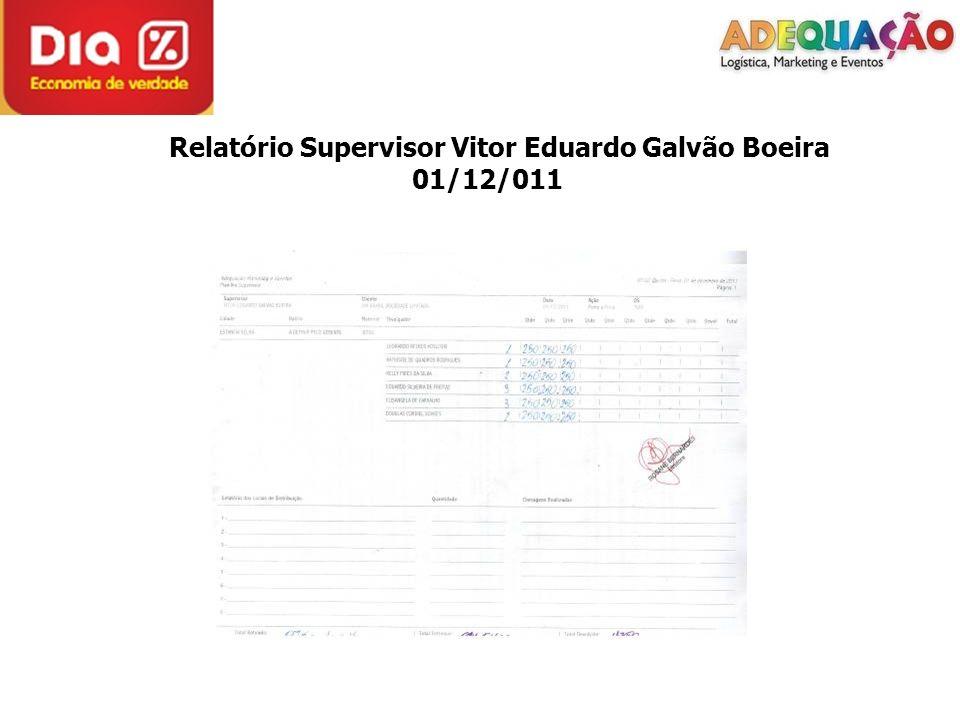 Relatório Supervisor Vitor Eduardo Galvão Boeira 01/12/011