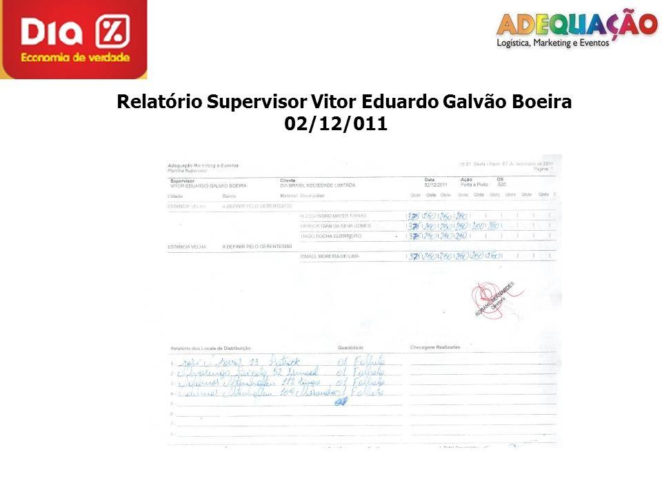 Relatório Supervisor Vitor Eduardo Galvão Boeira 02/12/011