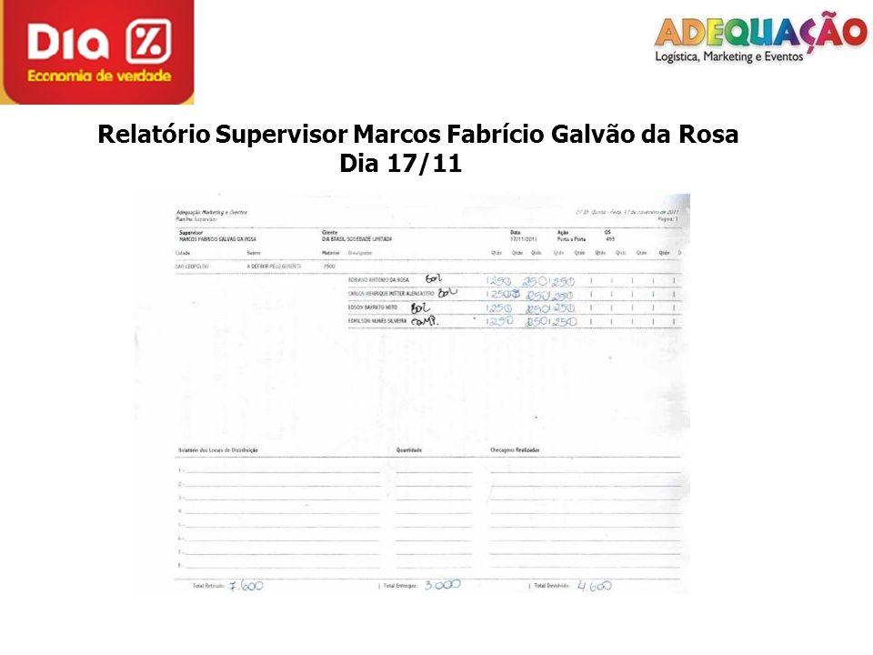 Relatório Supervisor Marcos Fabrício Galvão da Rosa Dia 17/11