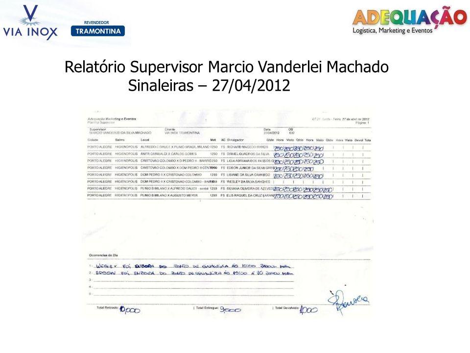 Relatório Supervisor Marcio Vanderlei Machado Sinaleiras – 27/04/2012