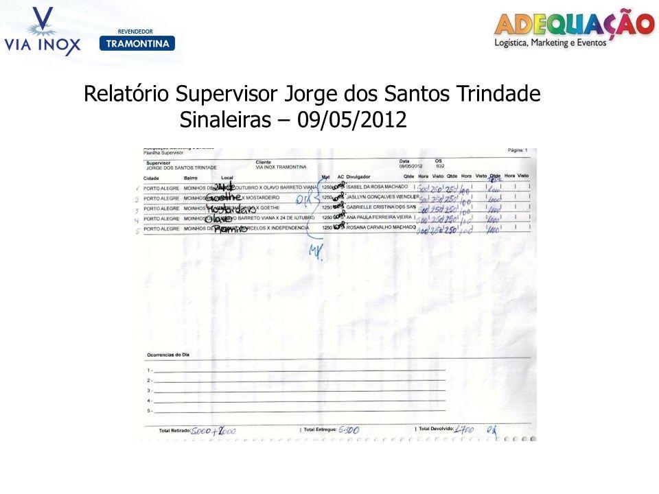 Relatório Supervisor Jorge dos Santos Trindade Sinaleiras – 09/05/2012