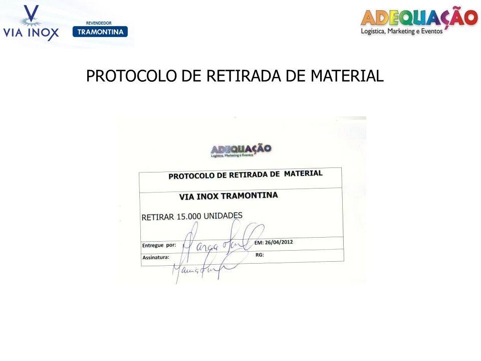 PROTOCOLO DE RETIRADA DE MATERIAL