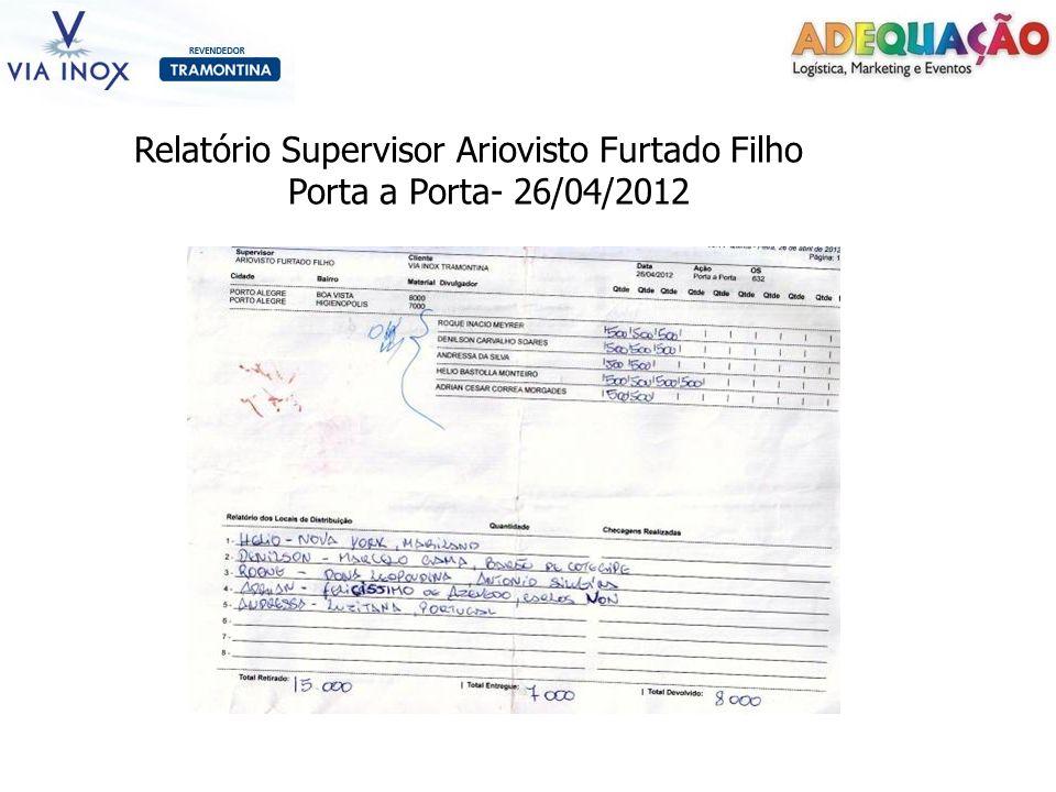 Relatório Supervisor Ariovisto Furtado Filho Porta a Porta- 26/04/2012