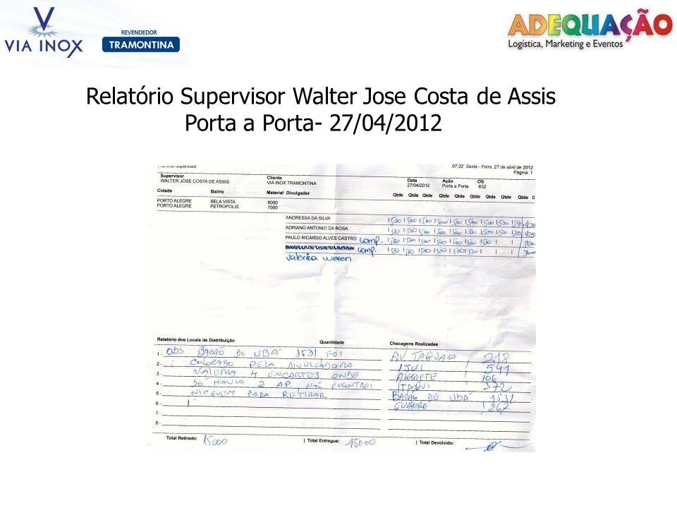 Relatório Supervisor Walter Jose Costa de Assis Porta a Porta- 27/04/2012