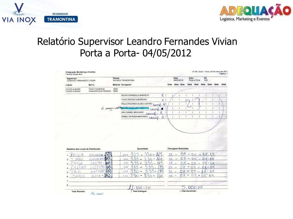 Relatório Supervisor Leandro Fernandes Vivian Porta a Porta- 04/05/2012
