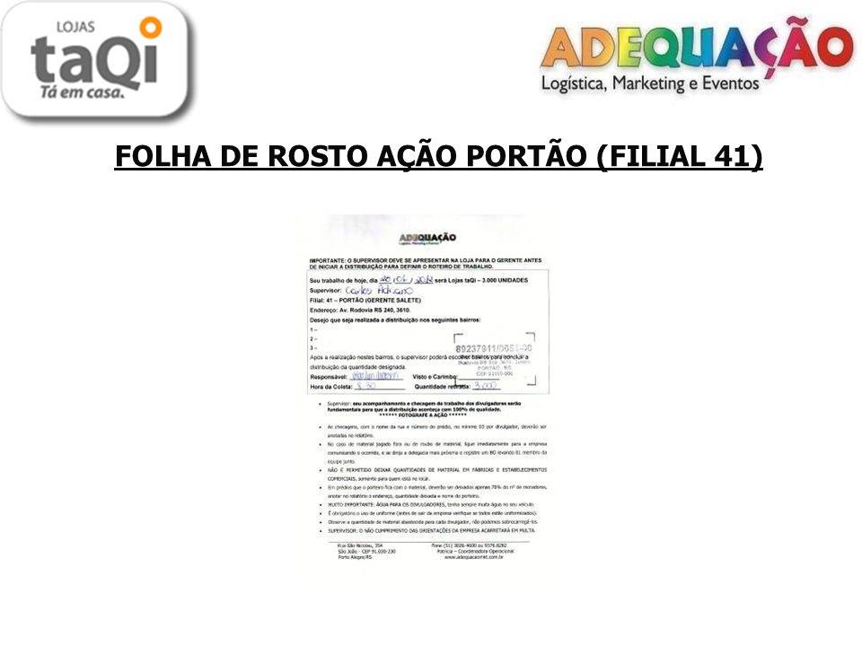 FOLHA DE ROSTO AÇÃO PORTÃO (FILIAL 41)