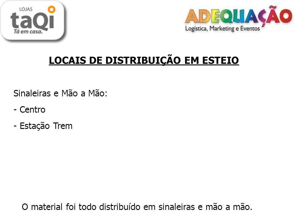 LOCAIS DE DISTRIBUIÇÃO TAQUARA Porta a Porta: - Empresa - Santa Terezinha - Cruzeiro - jardim do Prado - O material foi todo distribuído no porta a porta.