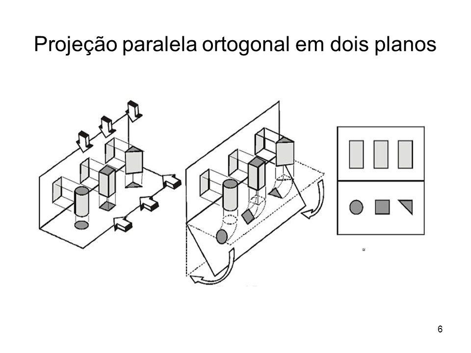 7 Planificação das Projeções Ortogonais no 1° Diedro