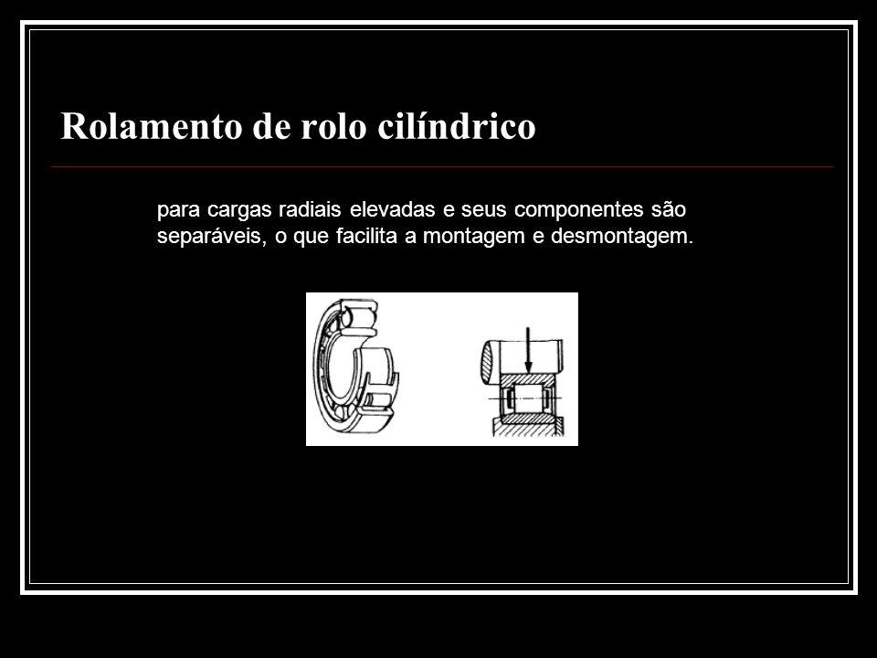 Rolamento de rolo cilíndrico para cargas radiais elevadas e seus componentes são separáveis, o que facilita a montagem e desmontagem.