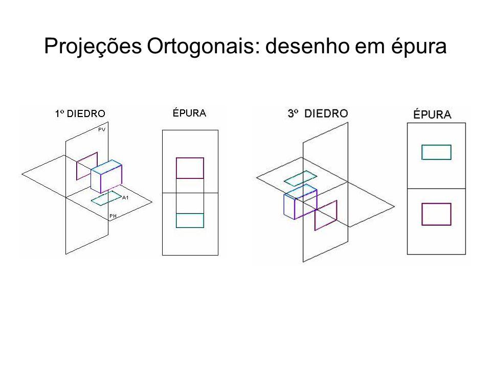 Projeções Ortogonais: desenho em épura