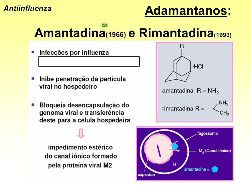Antiinfluenza Adamantanos: Amantadina (1966) e Rimantadina (1993)