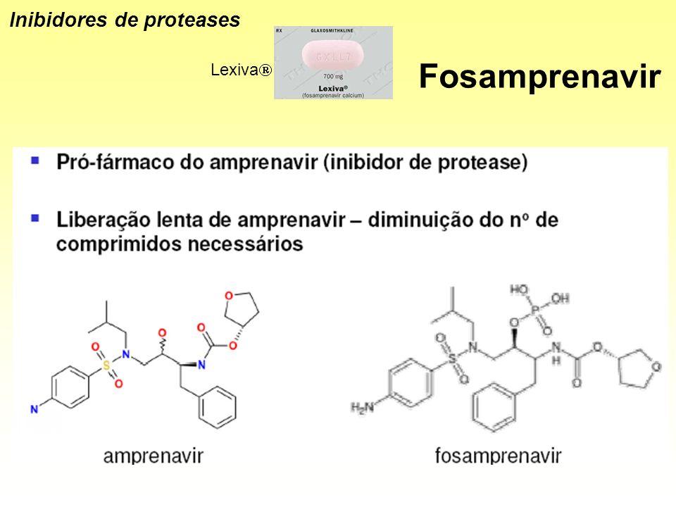 Fosamprenavir Lexiva Inibidores de proteases