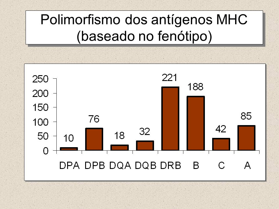 Polimorfismo dos antígenos MHC (baseado no fenótipo)