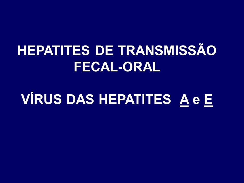HEPATITES DE TRANSMISSÃO FECAL-ORAL VÍRUS DAS HEPATITES A e E