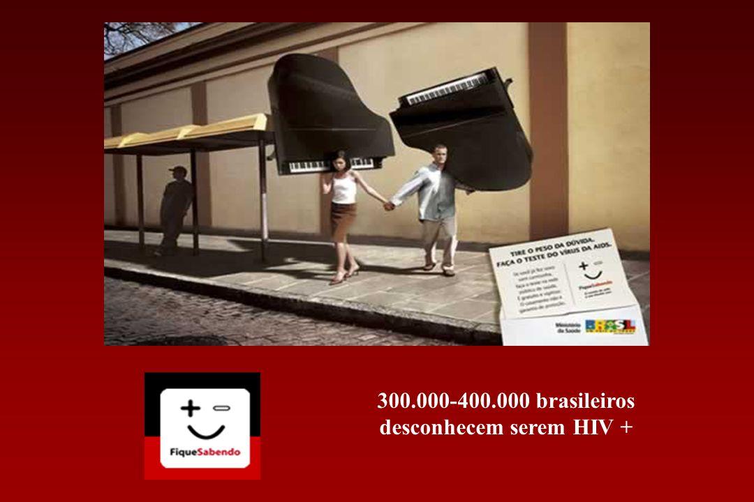 300.000-400.000 brasileiros desconhecem serem HIV +