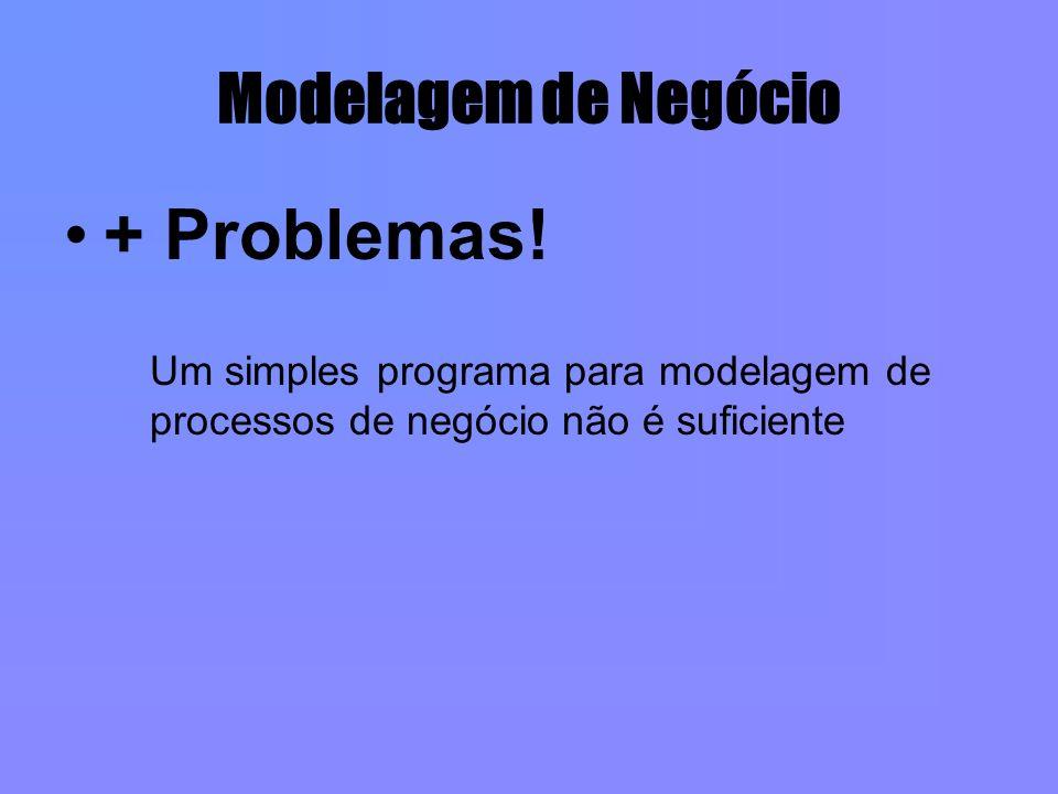 Modelagem de Negócio + Problemas! Um simples programa para modelagem de processos de negócio não é suficiente