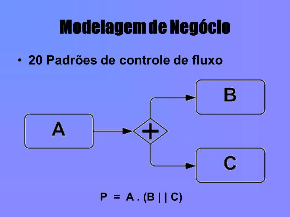 Modelagem de Negócio 20 Padrões de controle de fluxo P = A. (B | | C)