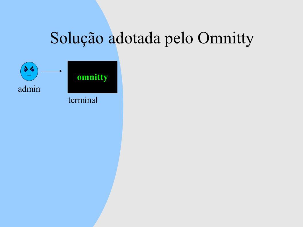 Solução adotada pelo Omnitty admin omnitty terminal